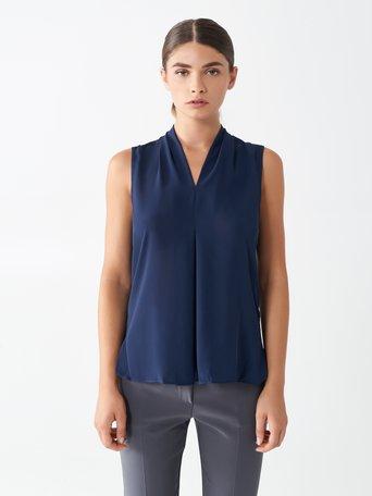 Georgette Top Blue - CFC0098575003B041