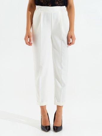 Pantaloni a Sigaretta Panna bianco - CFC0098010003B036