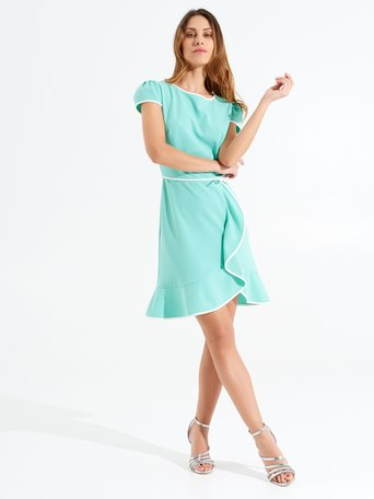 Robe Courte à Bordures var. Verde Acqua - CFC0098392003B494