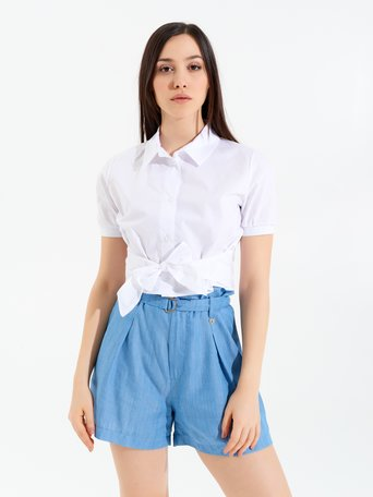 Shirt with Bow White - CFC0098927003B021