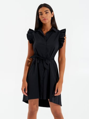 Short Asymmetrical Dress Black - CFC0017351002B001
