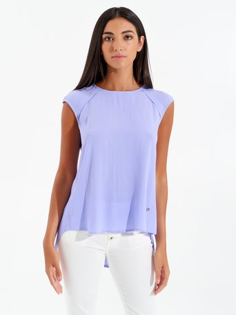 Sleeveless Viscose Blouse Lilac - CFC0099077003B215
