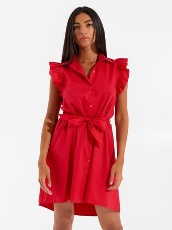 Short Asymmetrical Dress Red - CFC0017351002B081