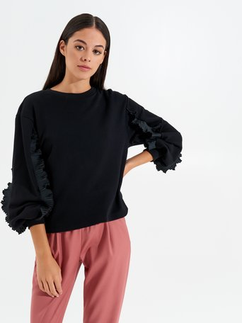 Frilled jumper Black - CFC0017432002B001