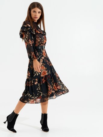 Romantic folk-style dress var black - CFC0017448002B473