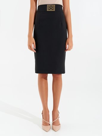 Monogram pencil skirt Black - CFC0099449003B001