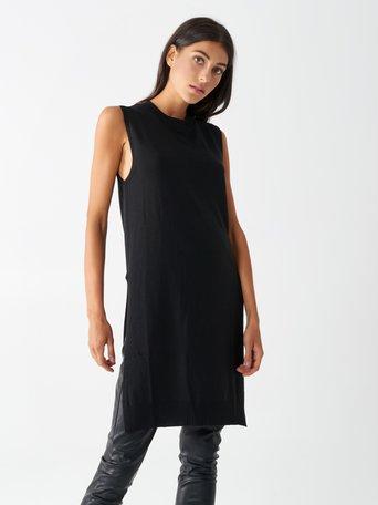 Viscose maxi vest Black - CFM0009816003B001