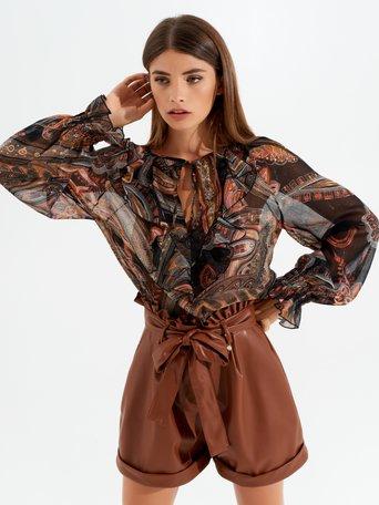 Blusa de estampado de cachemira Var. Negro - CFC0017480002B473