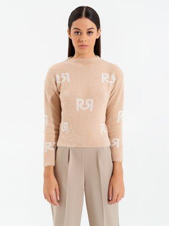 Monogram jumper Var. camel beige - CFM0009854003B517