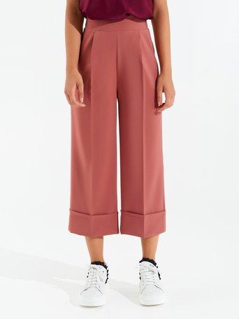 Culotte pants Rosa Cipria - CFC0098286003B385
