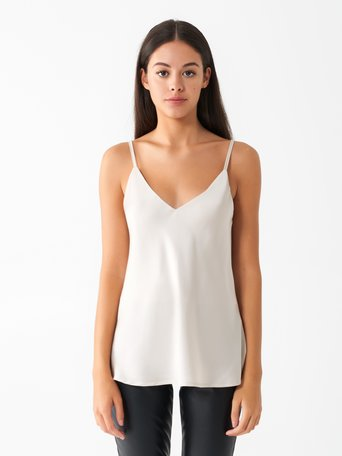 Satin Tank Top Beige - CFC0096657003B101