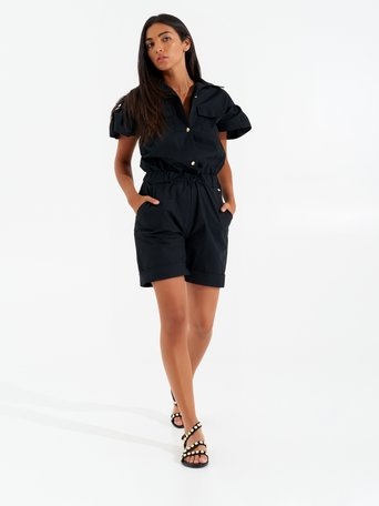 Short Jumpsuit Utility Black - CFC0099342003B001