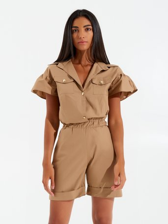 Short Jumpsuit Utility Mud brown - CFC0099342003B136