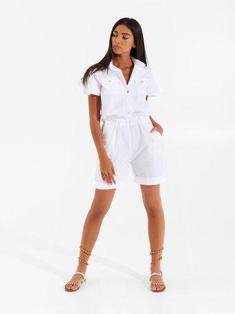 Short Jumpsuit Utility White - CFC0099342003B021