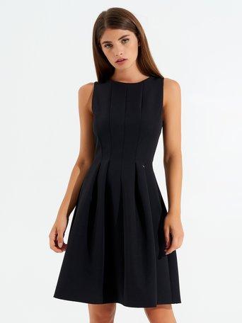 Vestido corto con ruedas Negro - CFC0099487003B001