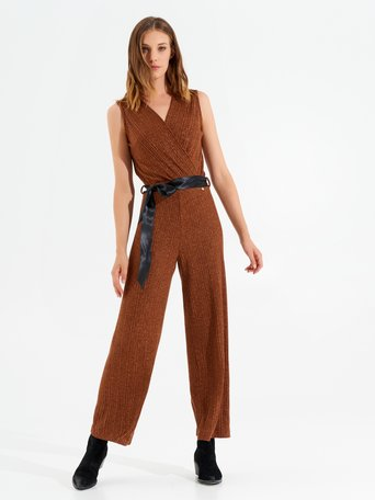 Lurex romper orange rust - CFC0099573003B372