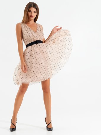 Polka dot tulle dress Pink - CFC0099833003B221
