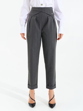 Pinstripe trousers var grey - CFC0099806003B456