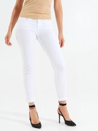 Pantaloni in Cotone Skinny Bianco - CFC0099878003B021