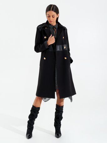 Double-breasted coat Black - CFC0099895003B001