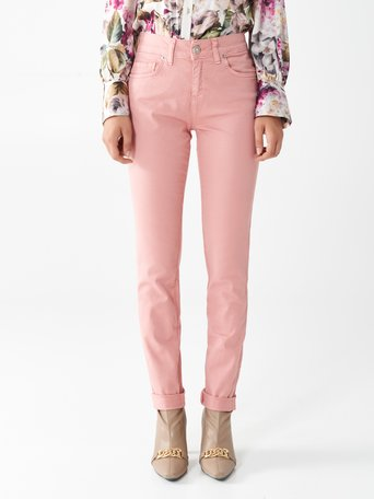 Skinny Cotton Trousers Rosa Cipria - CFC0099878003B385