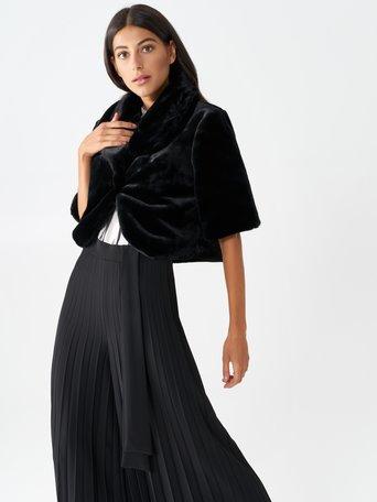 Faux fur bolero Black - CFC0099931003B001
