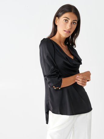 Cowl neck blouse Black - CFC0099899003B001