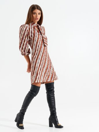Retro A-line dress var brown - CFC0099483003B466