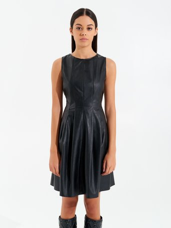 Short Leatherette Dress Black - CFC0099541003B001