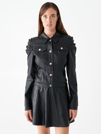 Faux leather stud jacket Black - CFC0099789003B001