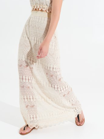 Gonna Lunga Crochet var. Beige - CFC0099953003B430