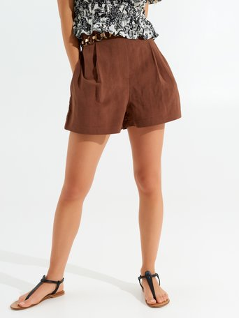Shorts in Viscosa Moro marrone - CFC0017524002B121