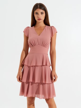 Dress with frilled skirt Pink - CFC0100374003B221