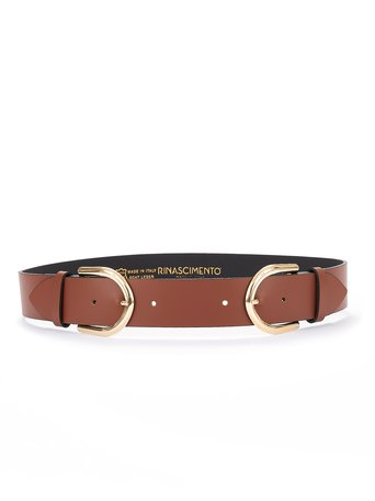 Cintura Sottile in Pelle Marrone Scuro - ACV0012770003B405