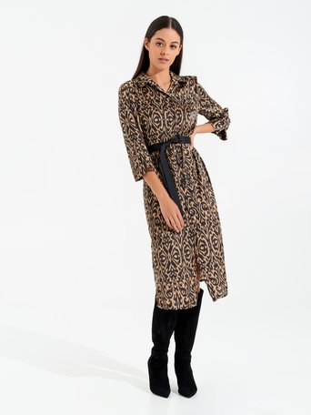 Printed Chemisier Dress var brown - CFC0017543002B466