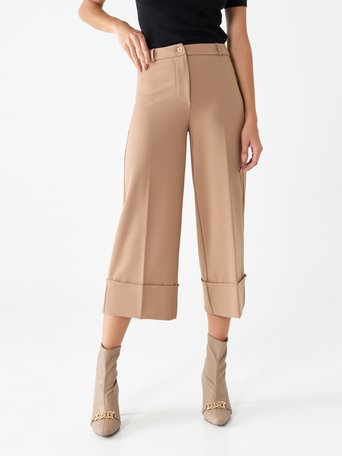 Pantaloni Culottes Cammello beige - CFC0100873003B117