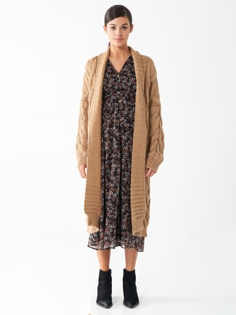 Cardigan coupe oversize Chameau Beige - CFC0100761003B117
