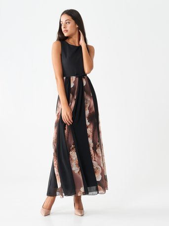 Long empire dress var brown - CFC0100682003B466
