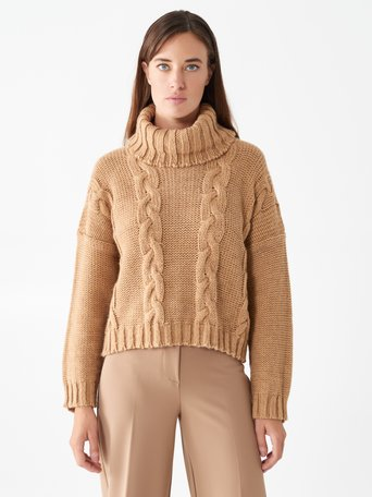 Turtleneck jumper Camel Beige - CFM0009968003B117