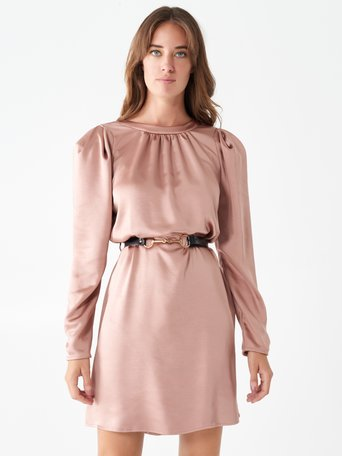Short satin dress Pink - CFC0100752003B221