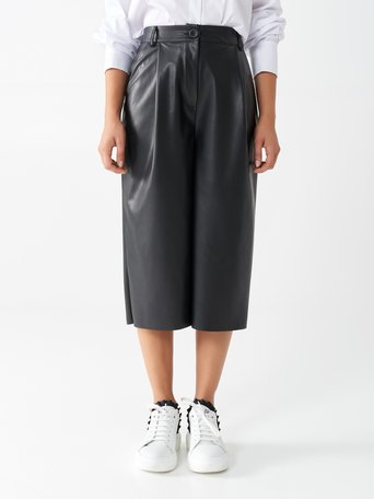 Faux leather culottes Black - CFC0100608003B001