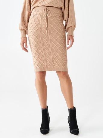 Falda longuette de tejido jersey Camello Beige - CFM0009965003B117