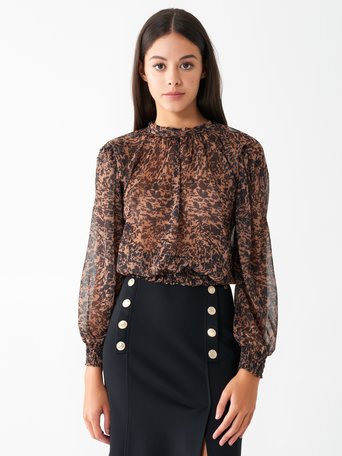 Printed blouse Camel Beige - CFC0100766003B117