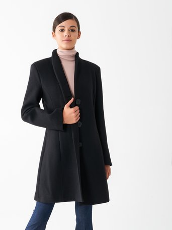 Fitted wool coat Black - CFC0100719003B001