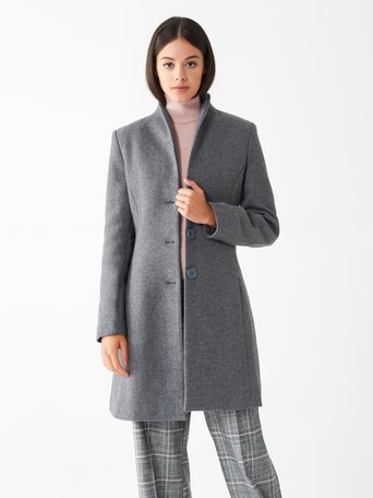 Fitted wool coat Grey - CFC0100719003B241