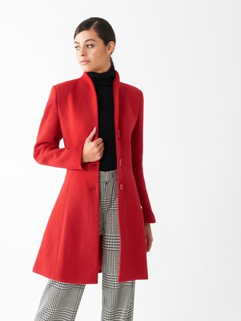 Fitted wool coat Red - CFC0100719003B081