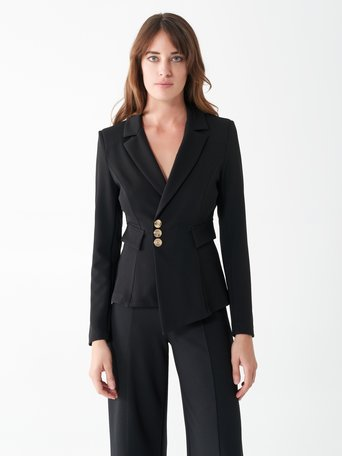 Fitted jacket with buttons Black - CFC0100848003B001