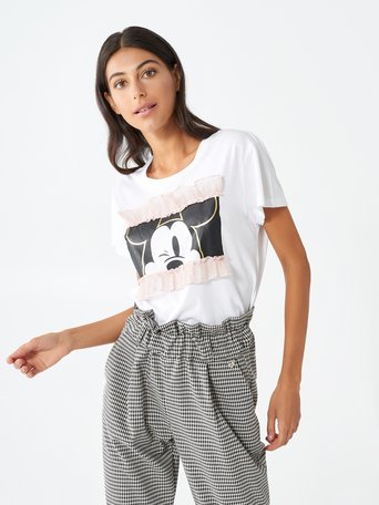 Mickey t-shirt with ruffles White - CFC0099253003B021
