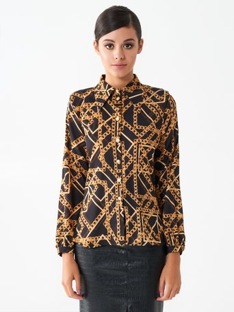 Chain print shirt var black - CFC0101313003B473