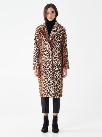 Cappotto Fur Animalier var. Marrone - CFC0101101003B466